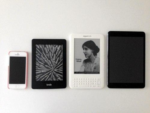 Kindle 中心に並べた写真